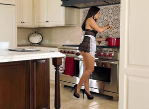 Glamorous brazilian housewife with a..